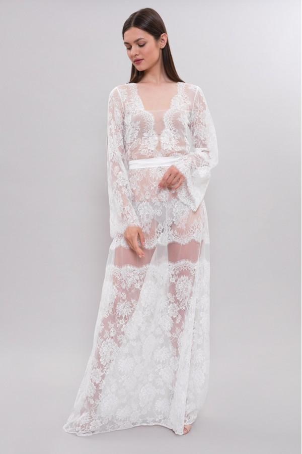 Длинное Полупрозрачное Кружевное Платье