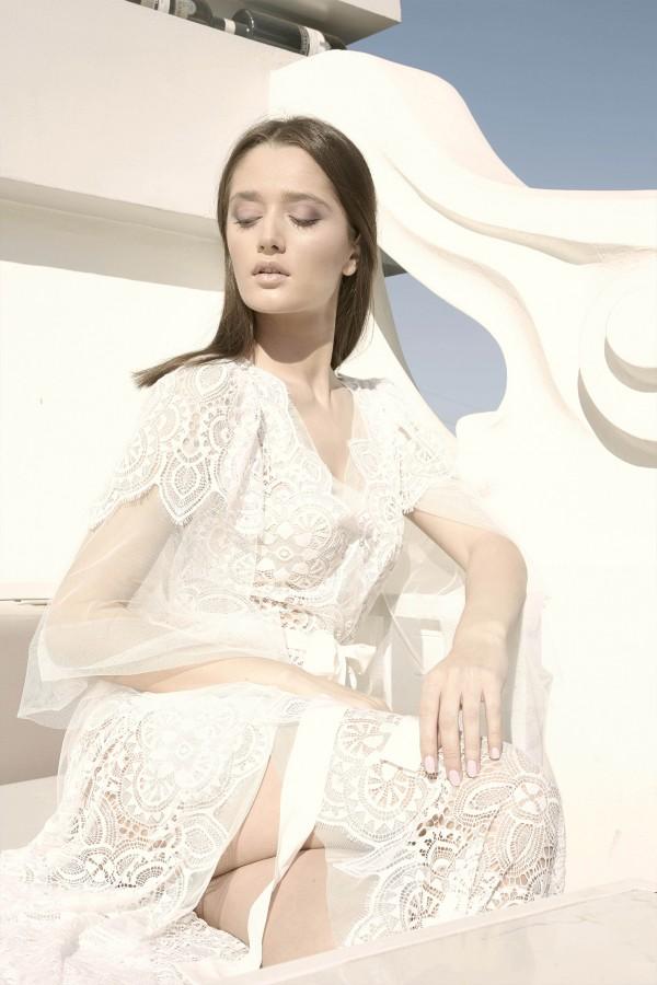 """Кружевной Халат с Воздушными Рукавами """"Мария"""""""
