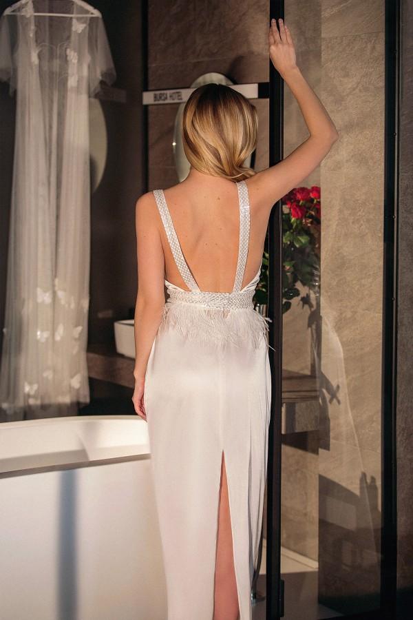 Шелковое Будуарное Платье с Открытой спиной