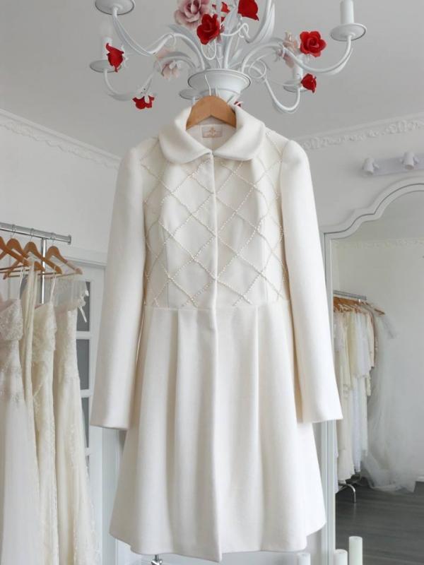 Свадебное пальто с жемчугом Swarovski